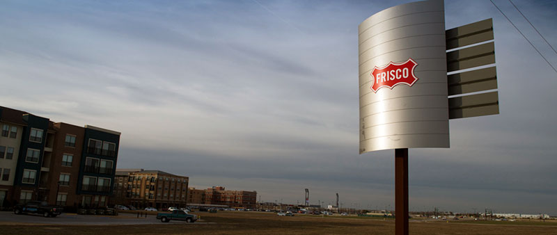 The Frisco sign boad in Frisco, Texas