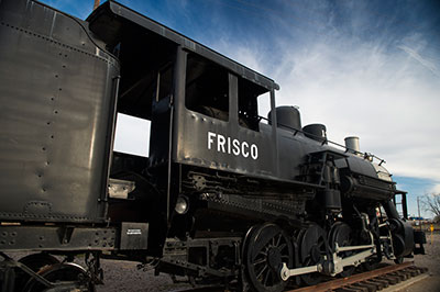 Historycal train in Frisco, Texas
