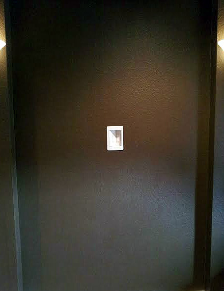 A new outlet was installed at a residential home in Murphy, TX in order to mount a TV on the wall.