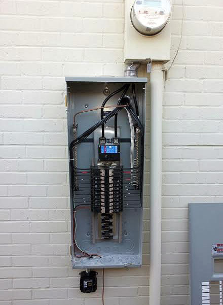 An updated breaker panel replacement was installed at a residential home in Dallas, TX.