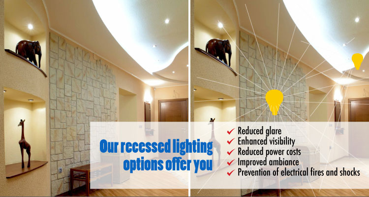 Recessed lighting installation services Texas Pettett Electric